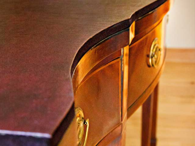 Photo: Custom Table Pad With Curved Edge