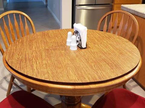 Round circle dining table protector pad