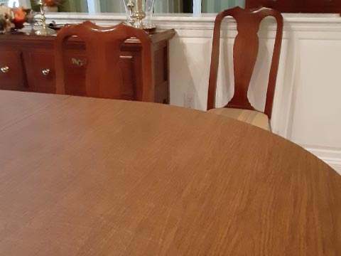 Maple wood dining table protector pad