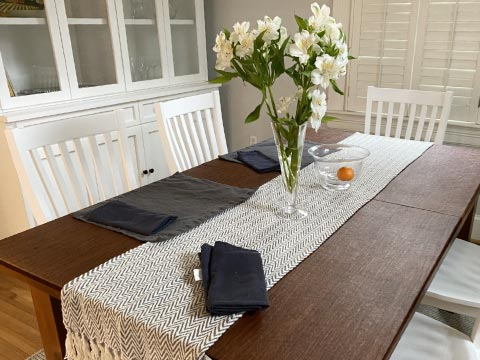Long rectangle dining table protector pad
