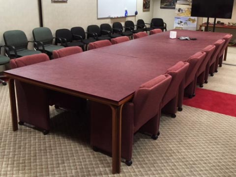 Conference room table pad photo