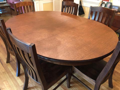 Oval table pad
