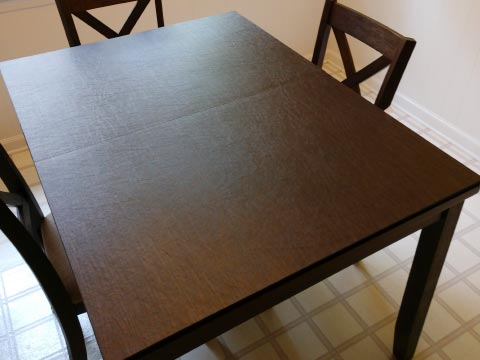 Rectangle dining table pad in cherry woodgrain