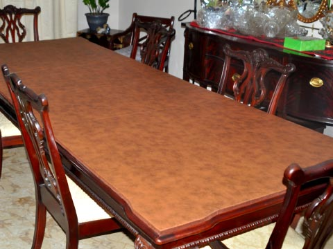 Rectangle dining room table pad with arrowhead corners
