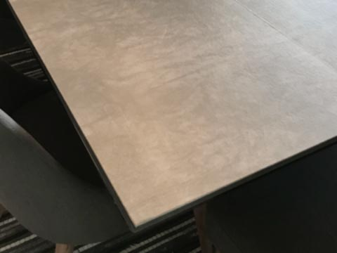 Grey leatherlook square table protector pad