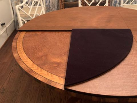 Round folding dining table protector pad