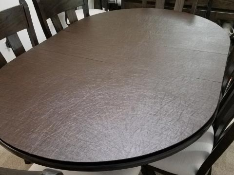 Oval dining room table protector pad