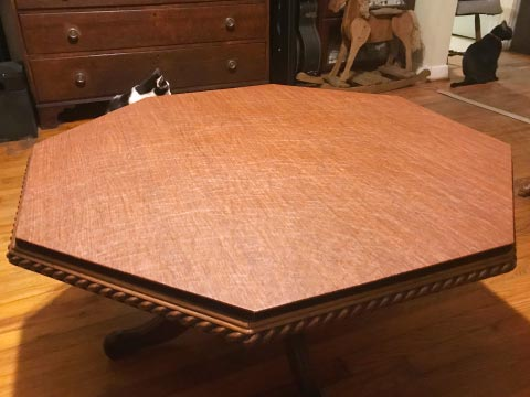 Octagonal table protector pad