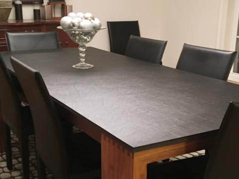 Black rectangle dining table pad